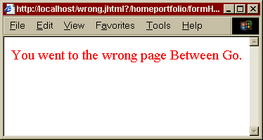 example of a form working incorrectly